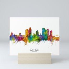 Saint Paul Minnesota Skyline Mini Art Print