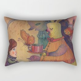 One spring day, while chasing butterflies Rectangular Pillow