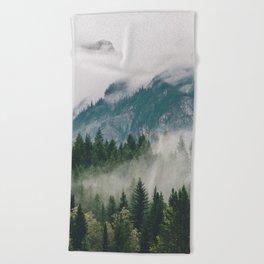 Vancouver Fog Beach Towel