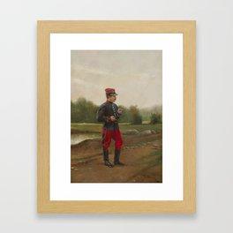 Etienne Berne-Bellecour(French, 1838-1910)Portrait of a Soldier Framed Art Print