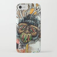 ape iPhone & iPod Cases featuring Ape Shrunkhead by Reboot