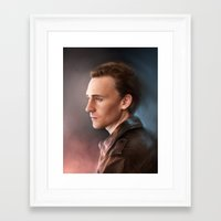 tom hiddleston Framed Art Prints featuring Tom Hiddleston by EternaLegend
