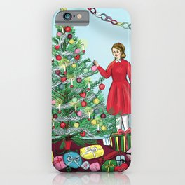 Christmas: decorating the tree iPhone Case
