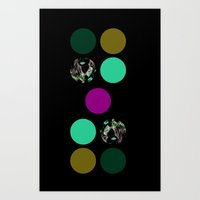 Pop Dots in a Girl Art Print