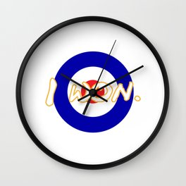 Say I Won Wall Clock