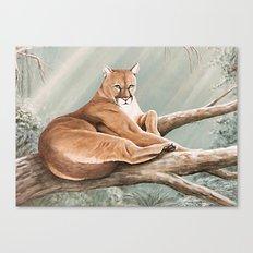 Don Corle-Cougar Canvas Print