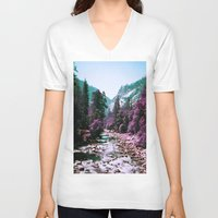 yosemite V-neck T-shirts featuring Yosemite Purple by Richard PJ Lambert