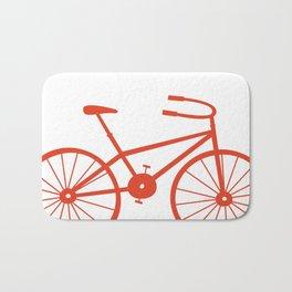 Red Bike by Friztin Bath Mat