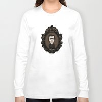 edgar allan poe Long Sleeve T-shirts featuring Edgar Allan Poe by Designs By Misty Blue (Misty Lemons)