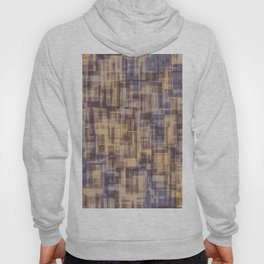 psychedelic geometric square pattern abstract in brown and blue Hoody