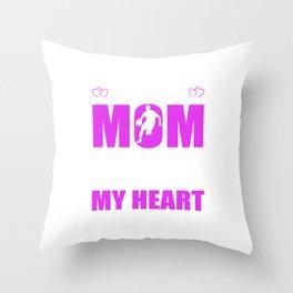 Basketball Moms Full Heart Mother Day T-Shirt Throw Pillow