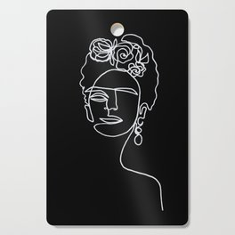 Frida Kahlo BW Cutting Board