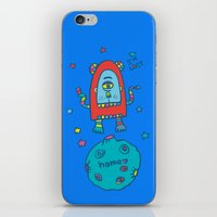 spaceman iPhone & iPod Skins featuring spaceman by PINT GRAPHICS