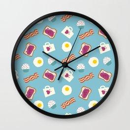 Pattern - Breakfast Wall Clock