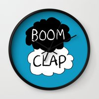 charli xcx Wall Clocks featuring Boom Clap (the sound of my heart - TFIOS) by Tangerine-Tane