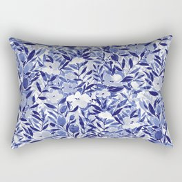 Nonchalant Indigo Rectangular Pillow