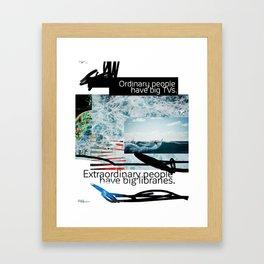 Ordinary - Extraordinary people scribble Framed Art Print
