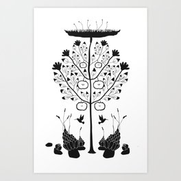 Dark Plants, extended Art Print