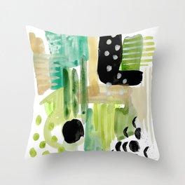 Garden Fern Abstract Throw Pillow