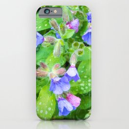 little flowers pink and violet iPhone Case