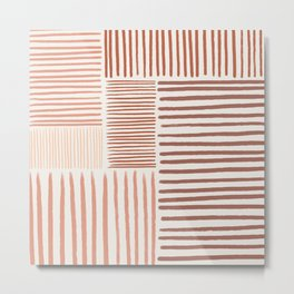 Terra Line Maze Metal Print