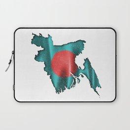Flag Of Bangladesh Distressed Laptop Sleeve