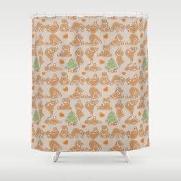 Christmas cookie yoga Shower Curtain