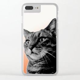 Cat in black Clear iPhone Case
