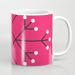 Mod Snowflake Hot Pink Coffee Mug