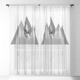 MTB Whip Gray Sheer Curtain