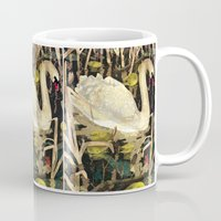swan Mugs featuring Swan by Lara Paulussen