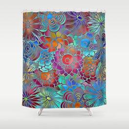 Flowery Summer Pattern Shower Curtain