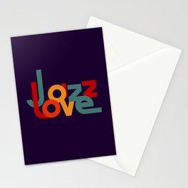 Love Jazz Stationery Cards