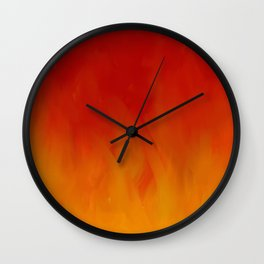 Flames of Gold Wall Clock
