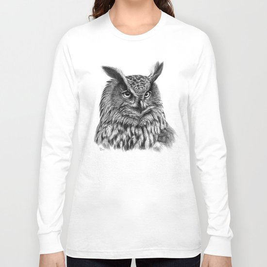 Eurasian Eagle Owl Long Sleeve T-shirt