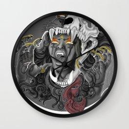 Queen of Lions Wall Clock