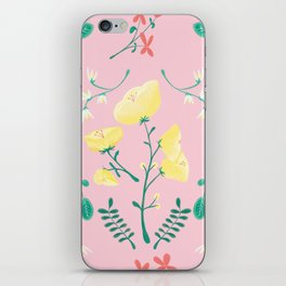 Candy Painted Spring Florals by Elizabeth Caparaz iPhone Skin