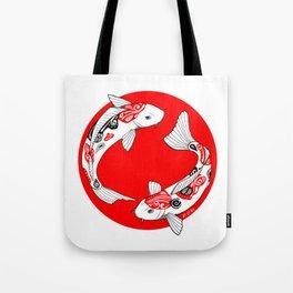 Japanese Kois Tote Bag