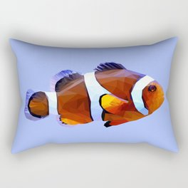 Clown fish low poly. Rectangular Pillow
