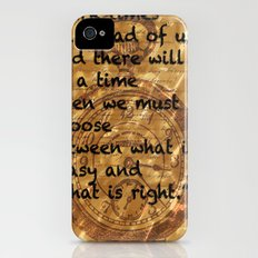 Dark Times Lie Ahead iPhone (4, 4s) Slim Case