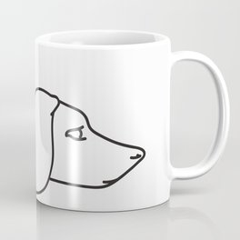 Minimal Dachshund Coffee Mug