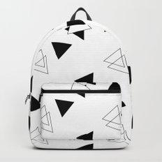 Modern Black Triangles Backpack