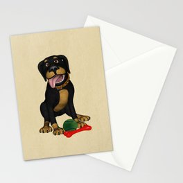 The friendly dog Stationery Cards