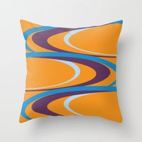 carnival Throw Pillows featuring Carnival by Ramon J Butler-Martinez