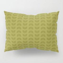 Golden Lime Leaves Pillow Sham