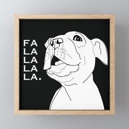 Falalalala Frenchie Dog Framed Mini Art Print
