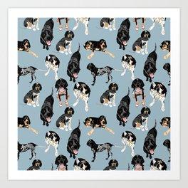 Bluetick Coonhounds Art Print