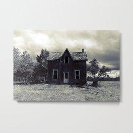 House on Blue Road Metal Print