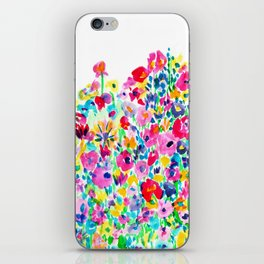 Flower Fields Pink iPhone Skin