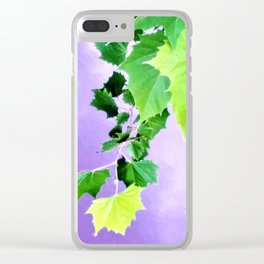 Sycamore Leaves Over the Water Clear iPhone Case